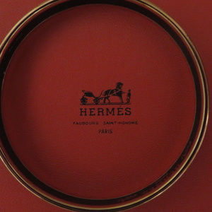 AUTHENTIC Hermes Cloisonne Bangle Bracelet Black/G